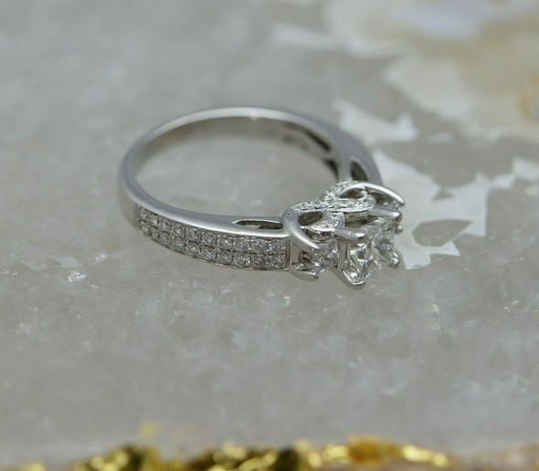 14K WG Princess Cut Diamond Engagement Ring Size 7 Circa 1990