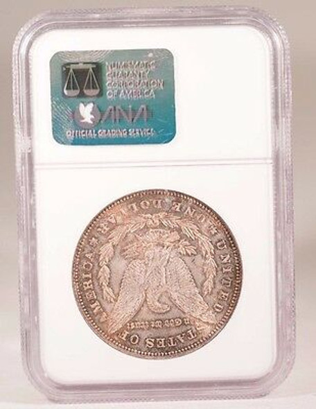 1878 Morgan Silver Dollar 7 Tail feathers Rev. of 78 NGC MS-63 Choice Toned