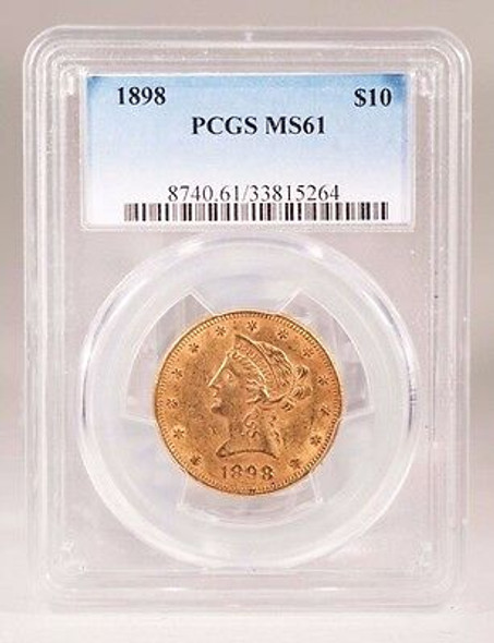 1898 Liberty $10.00 Gold Eagle PCGS MS-61