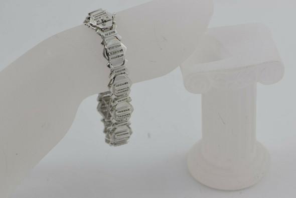 14K White Gold Men's Diamond Bracelet app. 3 ct tw Circa 1990