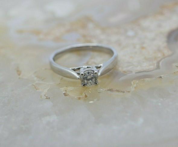 "Platinum Diamond Ring ""Zales"" Best Quality Size 6.25 Circa 1990"