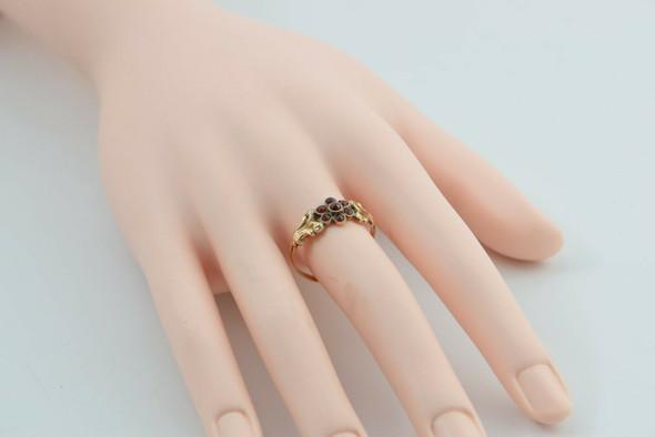 Yellow Gold Antique Garnet Ring Empire Revival Style Circa 1880 Size 10.25