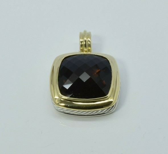 David Yurman 18K & Sterling 25ct. Albion Dark Orange Citrine Pendant