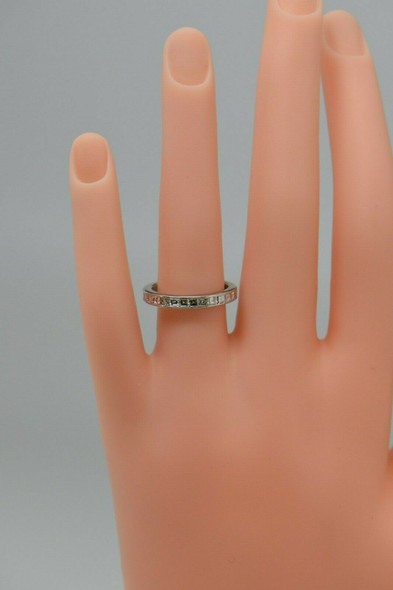 Superb Platinum Anniversary Band with 3 ct. tw. Square Cut Diamonds, Size 6.5