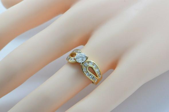 Vintage 14K Yellow Gold Diamond Ring 1.5 ct tw Size 6 Circa 1960
