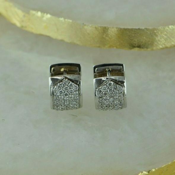 14K White Gold Diamond Hoop Earrings 2 ct. tw.