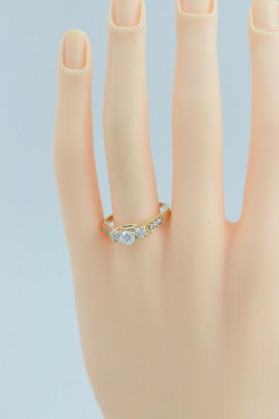 "14K YG Diamond Engagement Ring 1ct tw HSI Maker ""Keepsake"" Size 9.75 Circa 1990"