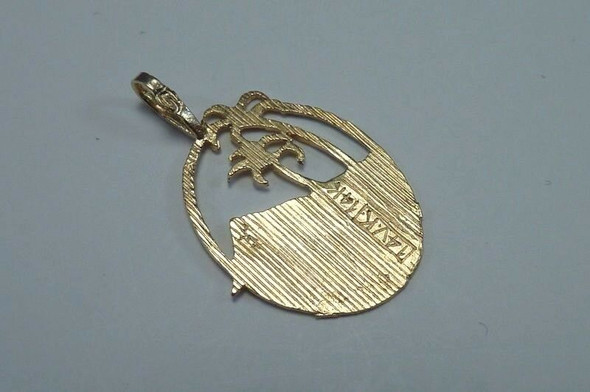 "14K Yellow Gold ""Beach Scene"" Pendant"