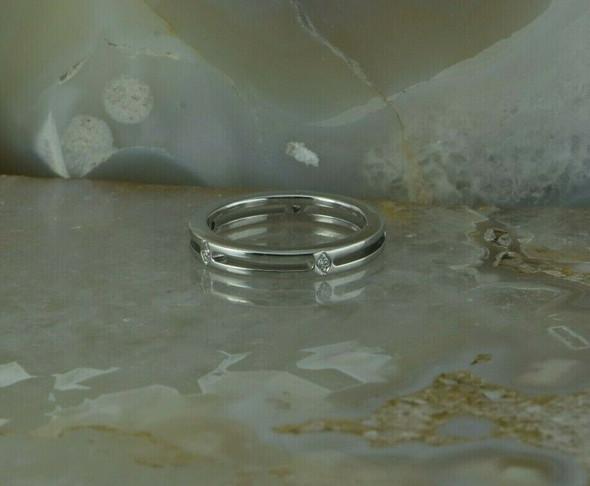 18K White Gold Chimento Diamond Ring Size 6.25 Circa 2000