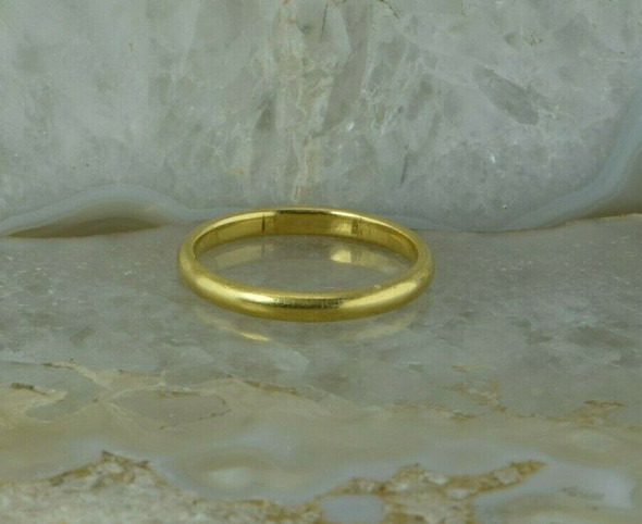 """18K Yellow Gold Band, Stamped """"T & Co."""", High Dome Ring Size 10.25 Circa 1930"""