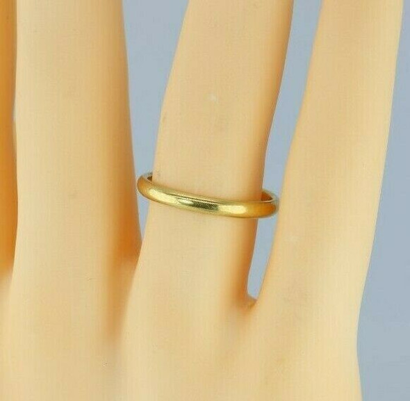 "18K Yellow Gold Band, Stamped ""T & Co."", High Dome Ring Size 10.25 Circa 1930"