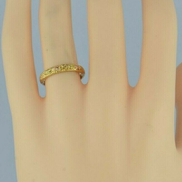 14K Multi Color Gold Black Gold Hills Ring Size 7 Circa 1980
