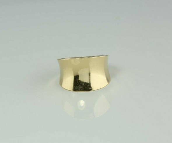 14K Yellow Gold Tapered Band with Reverse Domed Top Size 6.25 Circa 1990