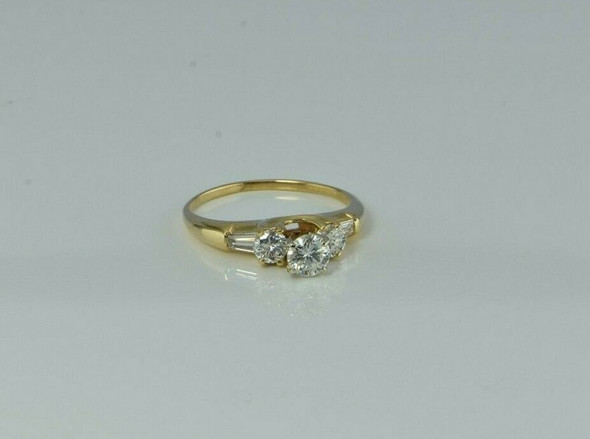 14K Yellow Gold 1ct Diamond Engagement Ring Nice Quality Well Designed Size 6.75