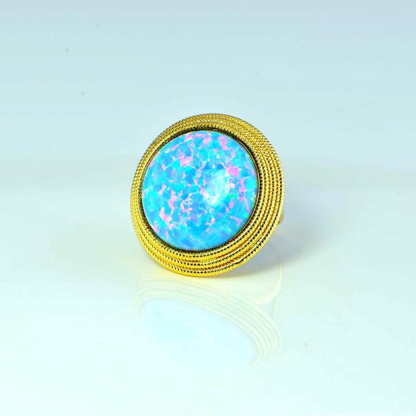 14K Yellow Gold Milor Opal Ring