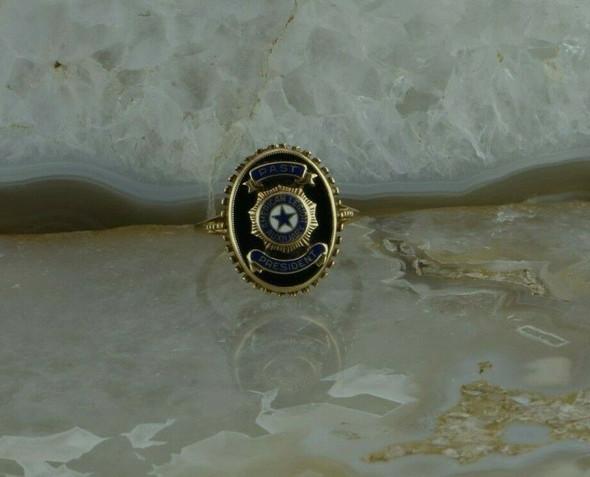 Vintage 10K Yellow Gold American Legion Past President Ring Size 7 Circa 1950