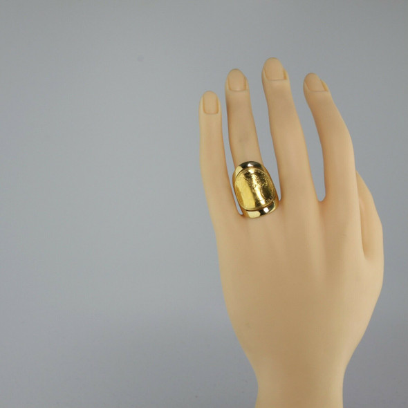 Victorian 1880 Rounded Sovereign Gold Coin Ring set in 14K Gold Size 7.75