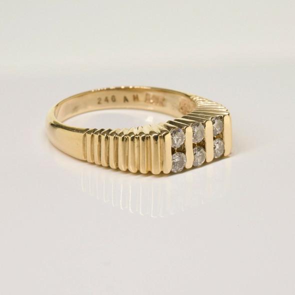 Vintage 14K Yellow Gold Diamond Ring 40pt tw est Size 7 Circa 1960