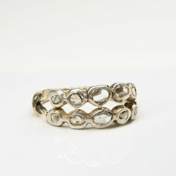 Early Victorian period Gold Diamond Ring Circa 1850 Ring Size 7