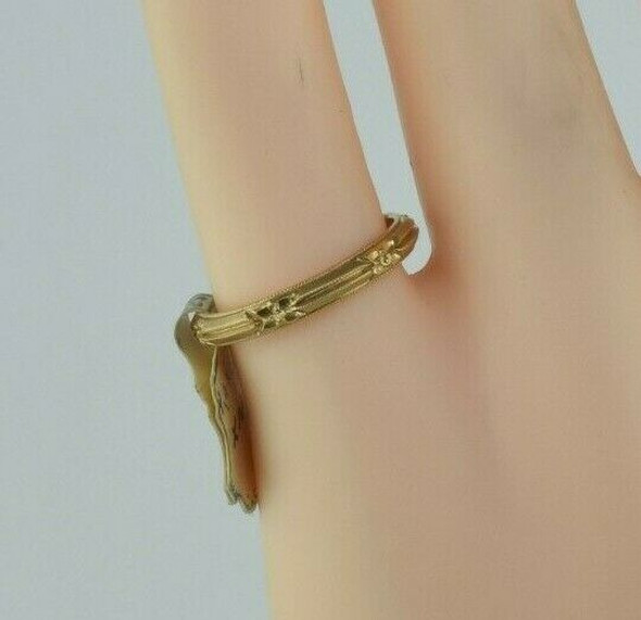 Antique 14K YG Art Deco Band New Old Stock with Tag Size 4.75 Circa 1930