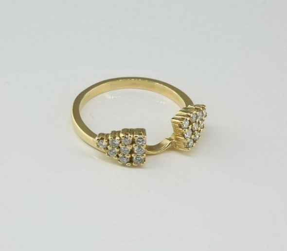 14K Yellow Gold Diamond Solitaire Ring Enhancer Size 5.24 Circa 1970