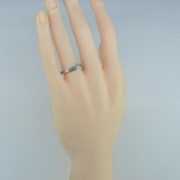 14K White Gold Diamond Ring Size 7.75 Circa 1980