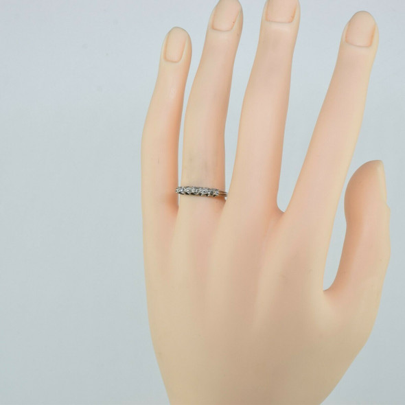 14K Yellow Gold Diamond Accent Ring Bowtie Design Size 7