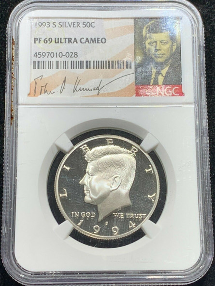 1994-S JFK Proof NGC PF 69 Ultra Cameo NGC ERROR Labelled 1993-S