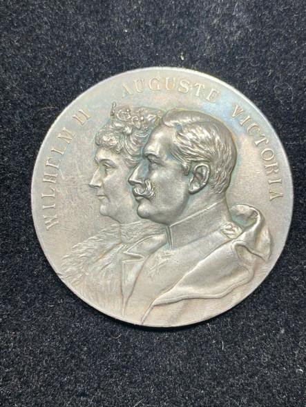 1902 Wilhelm II & Auguste Victoria Silver Medal Kaisertage September 1902