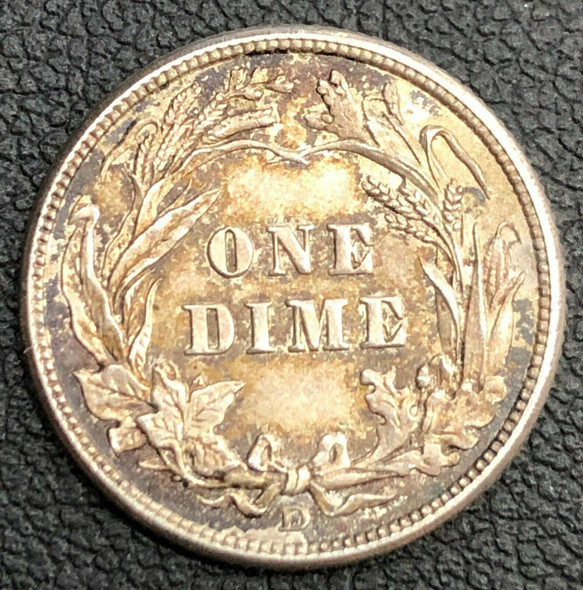 1912-D Barber Silver Dime