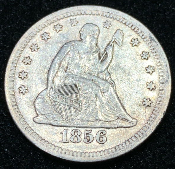 1856 Seated Liberty Silver Quarter