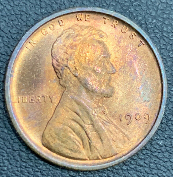 1909 VDB Lincoln Wheat Ear Reverse Cent