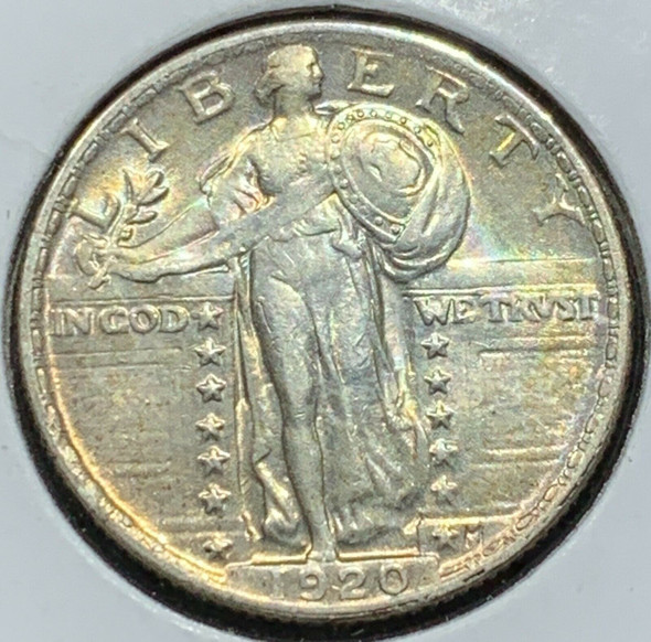 1920 Standing Liberty Silver Quarter Toned