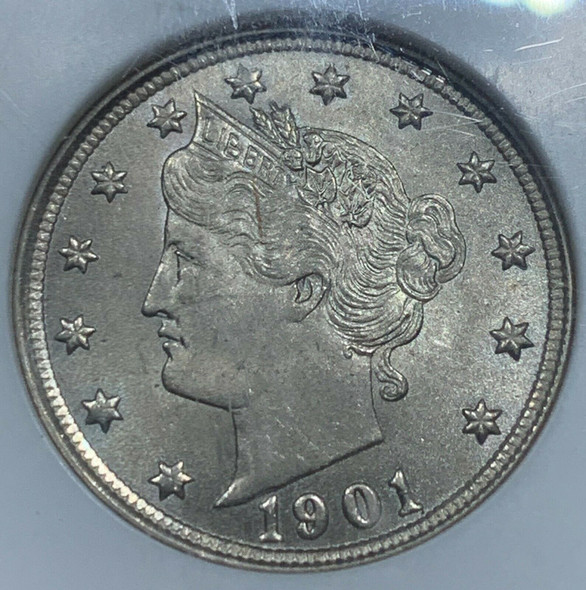1901 Liberty Head V Nickel NGC MS 64
