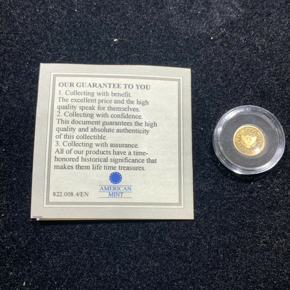 American Mint 14K Gold Lincoln Round Greatest American President Series