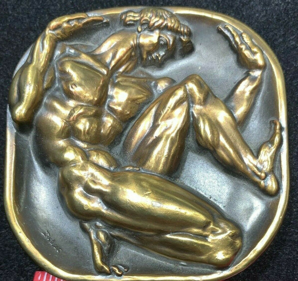 "1985 Society of Medalist No. 111th Issue ""Man in Box"" by Donald De Lue Bronze"
