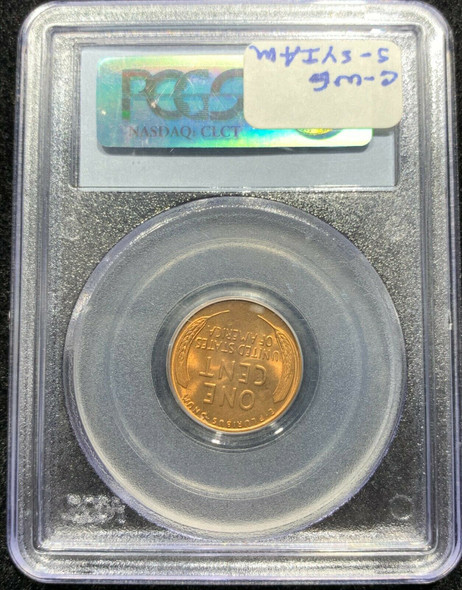 1934 Lincoln Cent PCGS MS 66 RD