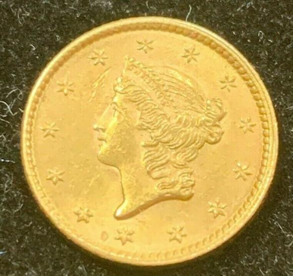 1852 Liberty Head $1 Gold Type 1