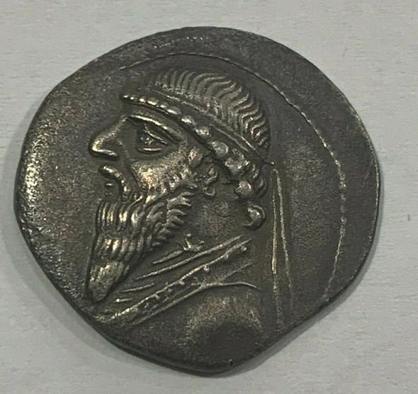 Kingdom of Parthra, Mithradates II Silver Drachma circa 123-88 BCE