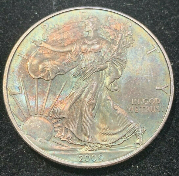 2009 American Silver Eagle Toned, Coin no.4