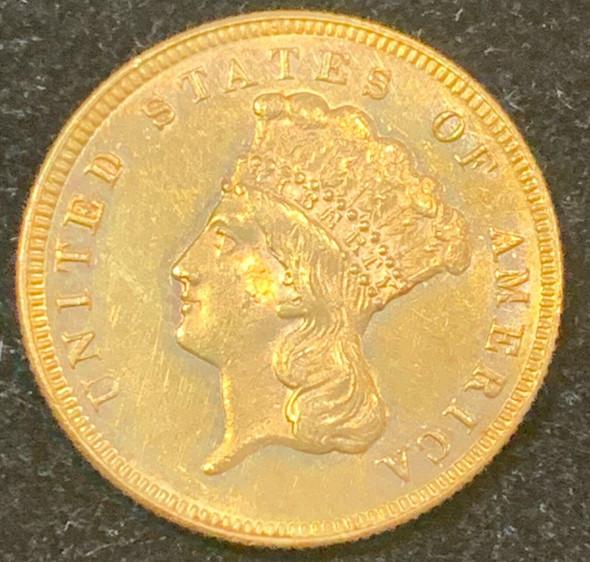 1874 Indian Princess Head $3 Gold