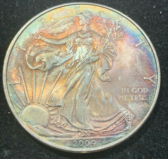 2009 American Silver Eagle Toned, Coin no.2