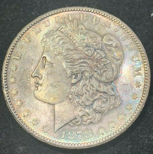 1878-S Silver Morgan Dollar Toned