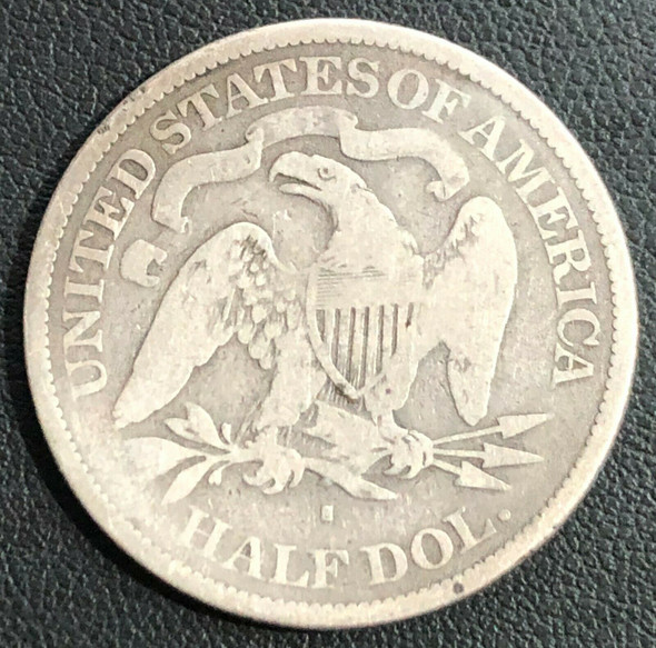 "1877-S ""Micro S"" Seated Liberty Silver Half Dollar"
