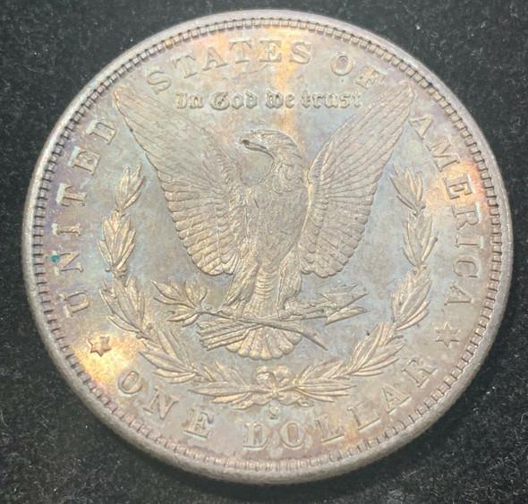 1881-S Silver Morgan Dollar Toned