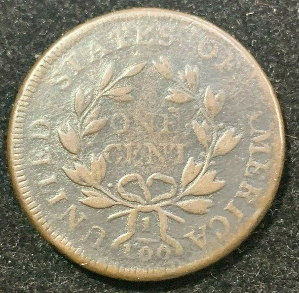 1798 Draped Bust Large Cent Style 2 Hair S.181 R-3