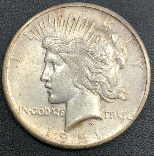 1921 High Relief Silver Peace Dollar