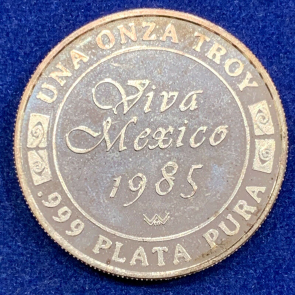 Mexico 1985 Silver Proof Onza