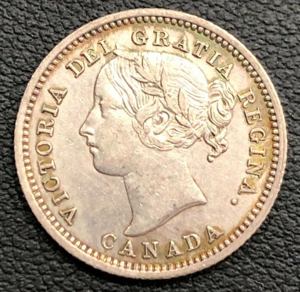 1870 Canada Victoria Silver 10 Cent