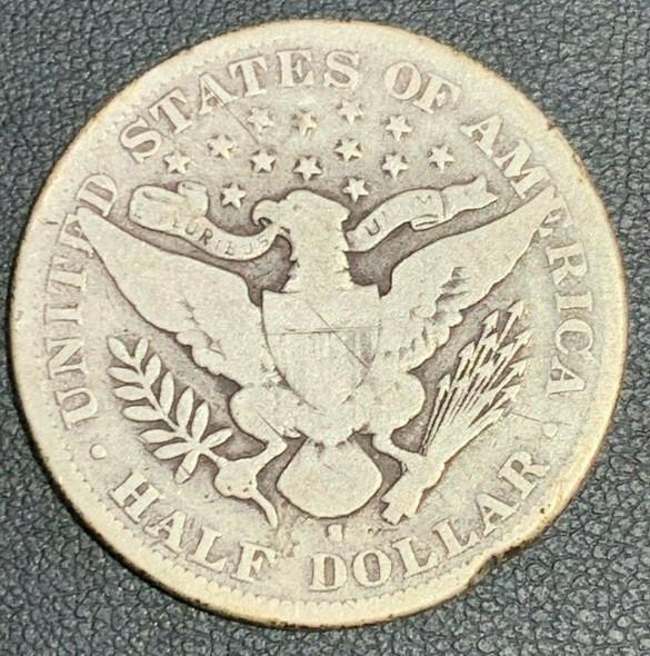 1896-S United States Barber Head Half Dollar